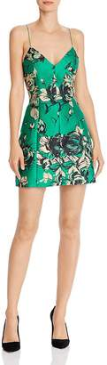Alice + Olivia Tayla Floral Structured Lantern Mini Dress