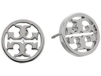 Tory Burch Logo Circle-Stud Earrings