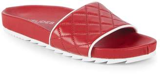 J/Slides Quilted Leather Slides
