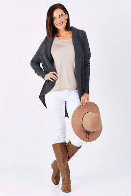 NEW Natural for birds Womens Cardigans Natural Define Cocoon Cardigan Ashen