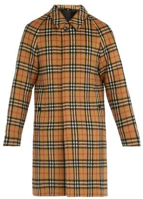 Burberry Vintage Check Alpaca Blend Car Coat - Mens - Camel