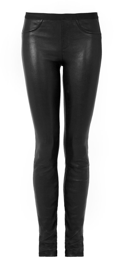 Helmut Lang Stretch Leather Skinny Pant