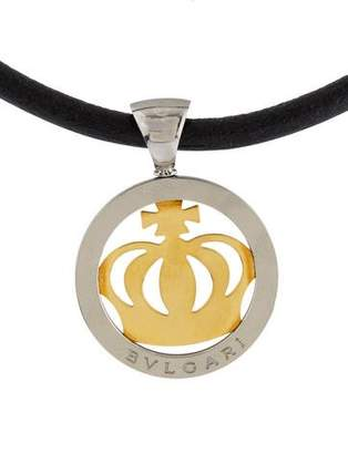 Bvlgari Tondo Crown Pendant Necklace