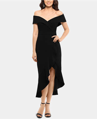 Xscape Evenings Off-The-Shoulder Midi Dress