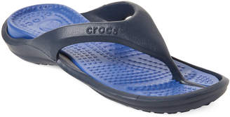 Crocs Navy & Cerulean Blue Athens Flip Flops