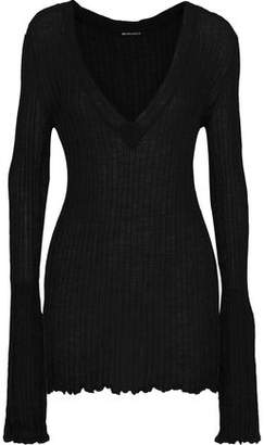 Ann Demeulemeester Ashgate Ribbed Mohair, Alpaca And Silk-blend Sweater