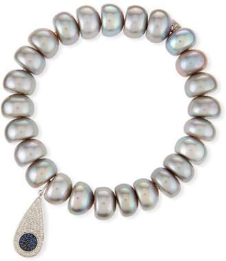 Sydney Evan 10mm Pearl Bracelet with Teardrop Eye Charm