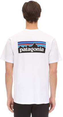 Patagonia P-6 Logo Cotton Blend T-Shirt W/ Pocket