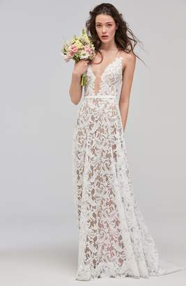 ASA Willowby Sleeveless Lace & Tulle A-Line Gown