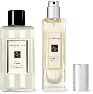 Jo Malone English Oak & Hazelnut Cologne And Basil & Neroli Body Wash Set - Colorless