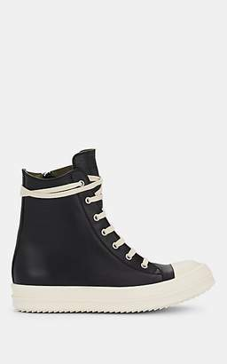 Rick Owens Women's Cap-Toe Leather Sneakers - Black