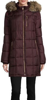 Liz Claiborne Water Resistant Heavyweight Puffer Jacket-Tall