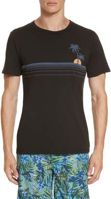 Onia Johnny Chest Palm Stripe Graphic T-Shirt