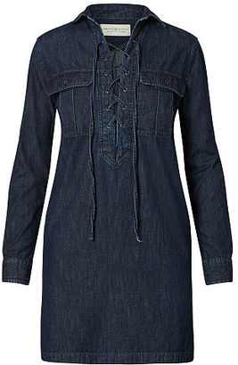 Ralph Lauren Denim & Supply Lace-Up Denim Dress $125 thestylecure.com
