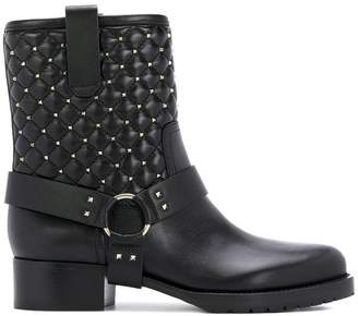 Valentino quilted biker boots