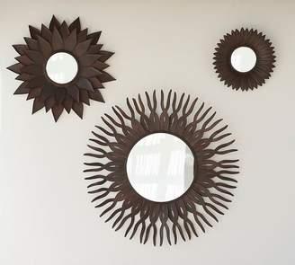 Pottery Barn Bronze Sun Mirrors