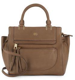 Leather Crossbody Bag $268 thestylecure.com