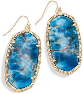 Kendra Scott Danielle Statement Earrings in Aqua Apatite