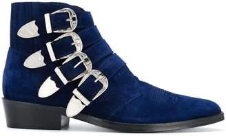 Toga Virilis buckled ankle boots