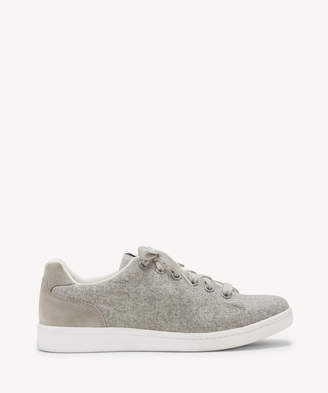 ED Ellen Degeneres Women's Chapala Lace Up Sneakers Light Grey Size 6 Leather From Sole Society