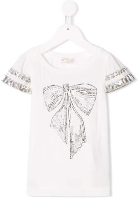 MonnaLisa bow-studded T-shirt