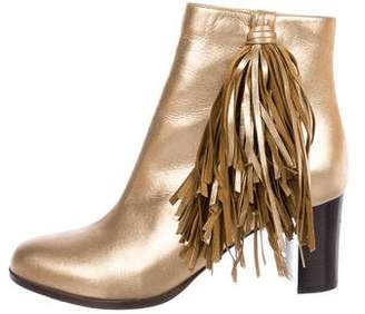 Christian Louboutin Metallic Leather Ankle Boots w/ Tags