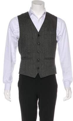 Brunello Cucinelli Cashmere Herringbone Vest