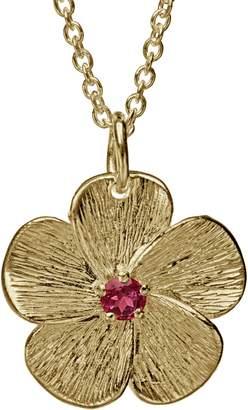 ADI Paz 14K Gold Pink Tourmaline Flower Pendantw/ Chain