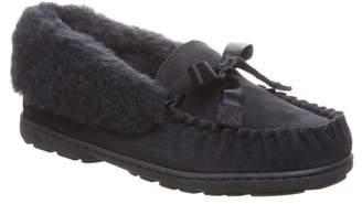 BearPaw Indio Suede Genuine Sheepskin Footbed Moccasin