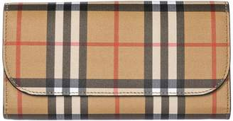 Burberry Genuine Leather Wallet Credit Card Bifold Continental