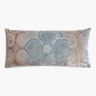Kevin OBrien Kevin O'Brien Persian Velvet Lumbar Pillow Robin's Egg