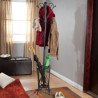 Southern Enterprises Scrolled Coat Rack and Umbrella Stand
