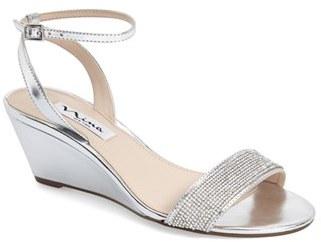 Nina 'Novia' Embellished Wedge Sandal (Women) $78.95 thestylecure.com