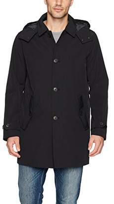 Tommy Hilfiger Men's Hooded Rain Trench Coat with Removable Quilted Liner