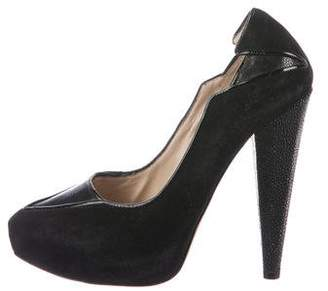 Chrissie Morris Suede Pointed-Toe Pumps