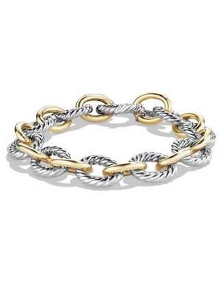 David Yurman Large Oval Link Chain Bracelet, Silver/Gold $1,700 thestylecure.com
