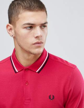 Fred Perry twin tipped polo shirt in red