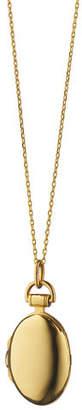 "Monica Rich Kosann Anna 18k Gold Petite Locket Necklace, 17""L"