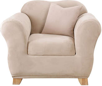 Sure Fit Stretch Faux-Suede 2-pc. Chair Slipcover