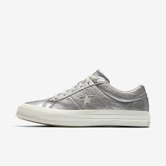 Converse One Star Heavy Metallic Leather Low Top Unisex Shoe