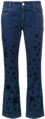 Stella McCartney kick flare star printed jeans