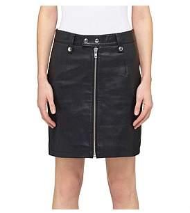 Moto Nobody Denim Leather Skirt