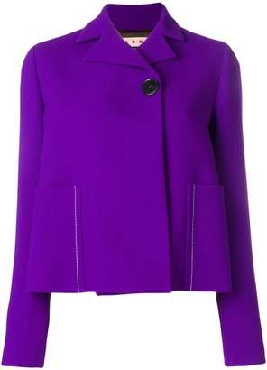 Marni single button cropped jacket