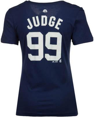 Majestic Women's Aaron Judge New York Yankees Crew Player T-Shirt