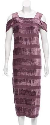 Bottega Veneta Drop Waist Velvet Dress w/ Tags