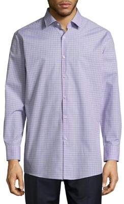 HUGO BOSS Check Cotton Casual Button-Down Shirt