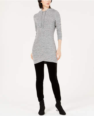 Bar III Hooded Sweatshirt Tunic Top
