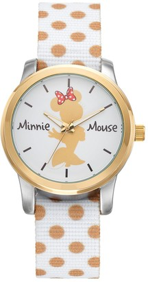 Disney Disney's Minnie Mouse Women's Polka Dot Reversible Watch