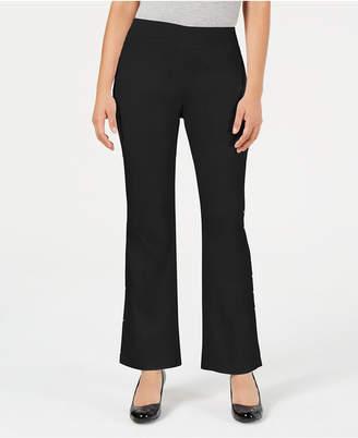 JM Collection Studded Flared-Leg Pants