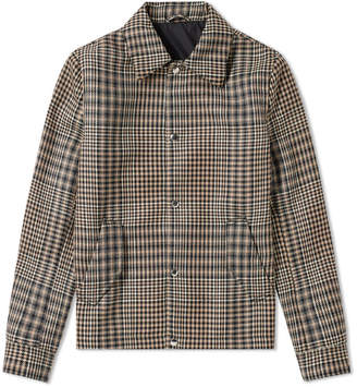 Ami Checked Wool Coach Jacket